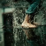 splash in the rain