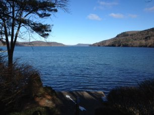 Otsego Lake in December looking from Council Rock